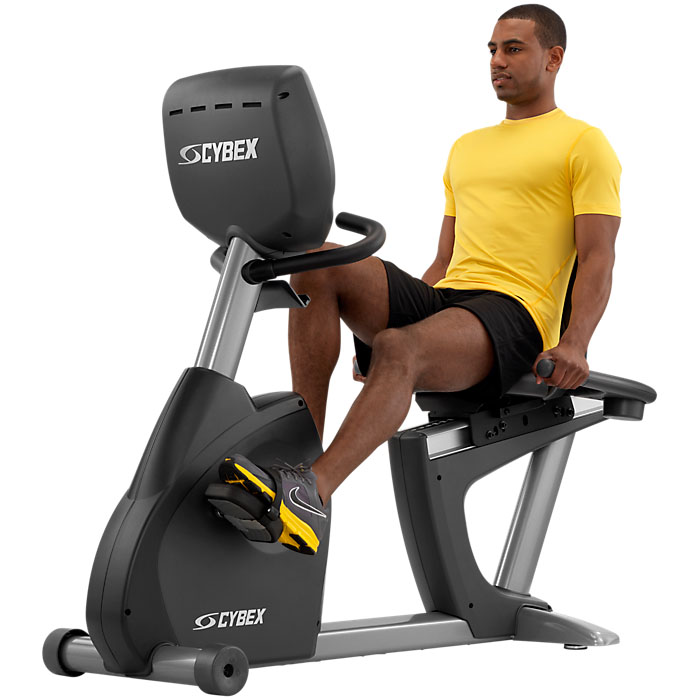 Cybex 625R Recumbent Bike with E3 View Embedded Monitor