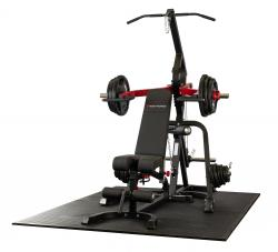 Leverage Gym with Bench and 125Kg Olympic Rubber Tri-Grip Disc Set