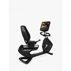 Life Fitness Platinum Club Series Recumbent Bike with Discover SE3HD Console, Arctic Silver