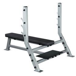 Pro Club-Line Flat Olympic Bench (Silver/Grey)